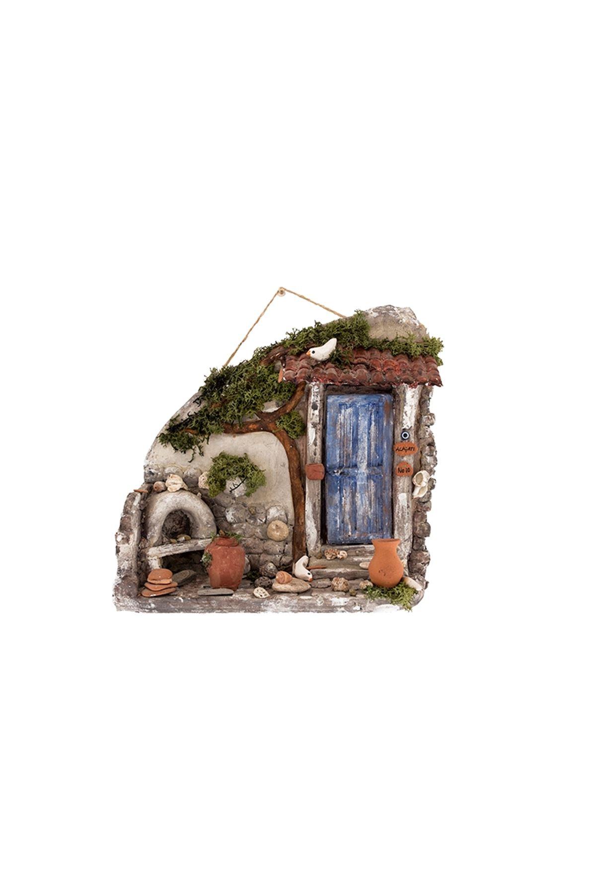 Seramik Küçük  Ev Duvar Süsü