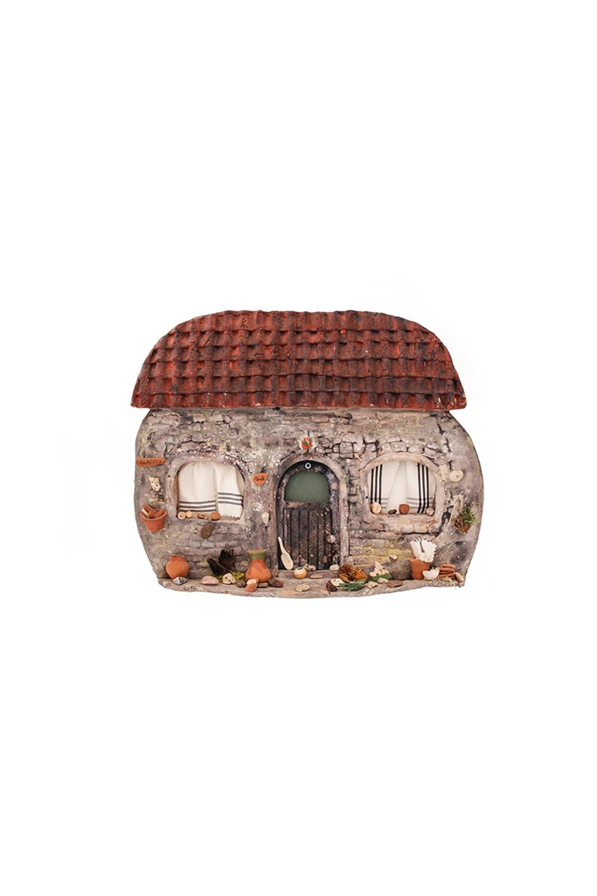 Seramik Büyük Ev Duvar Süsü
