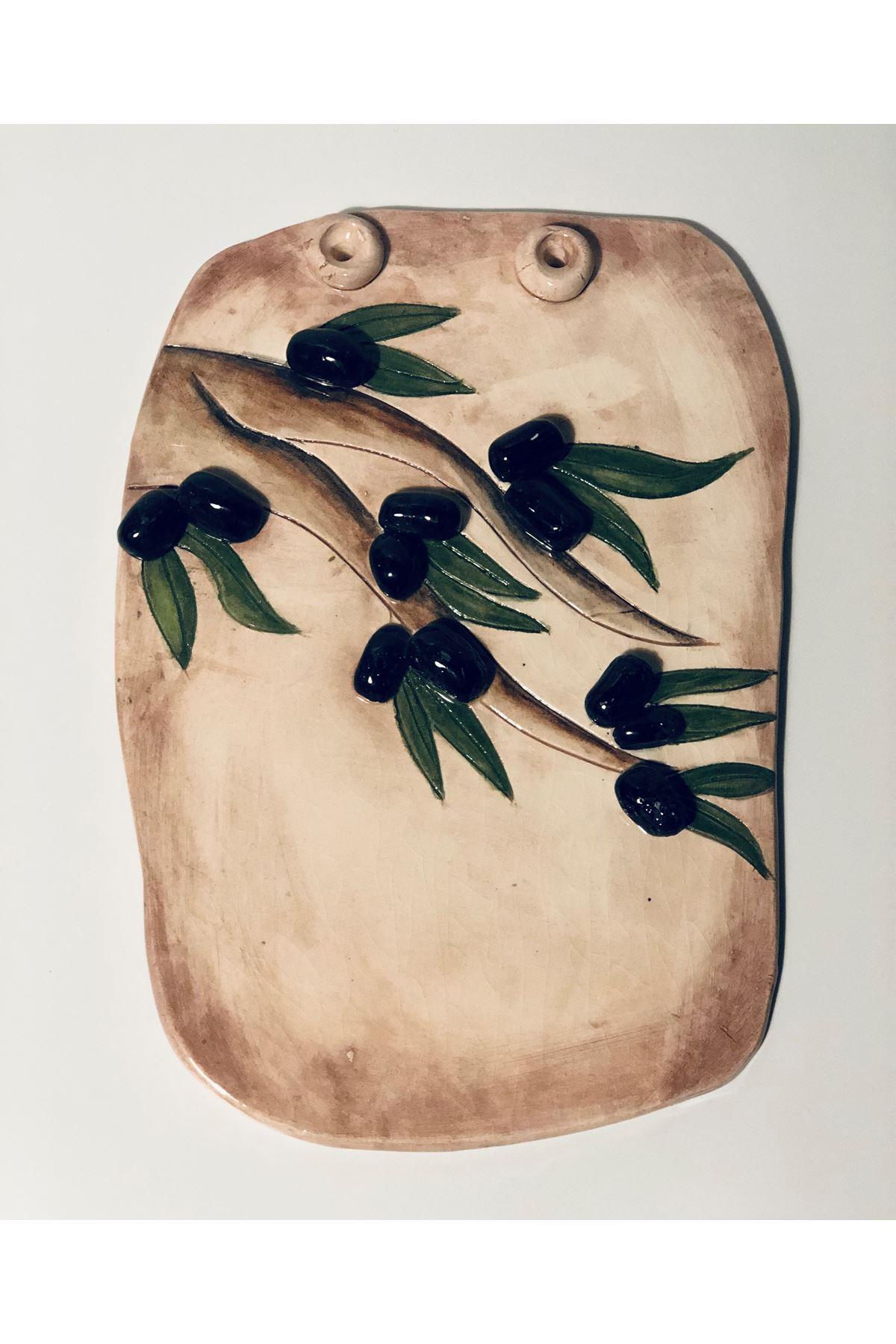Zeytinli Duvar Aksesuarı Tuval Hedıyelık